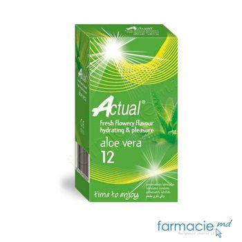 купить Prezervative Actual N12 Hydrating Pleasure (cu aloe vera)(TVA8%) в Кишинёве