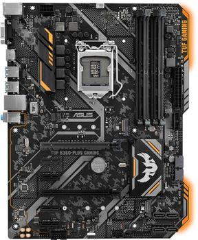 ASUS TUF B360-PLUS GAMING, Socket 1151, Intel® B360 (9th/8th Gen CPU), Dual 4xDDR4-2666, 2xPCIe X16, CPU Intel graphics, VGA, HDMI, 6xSATA3, 2xM.2, ALC887 HDA, GbE LAN, 2xUSB3.1 Gen 2, 4xUSB3.1, Aura Sync,TUF comp, 24/7, ATX