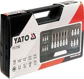 cumpără TRUSA BITI YATO 18BUC 3-12MM HEX 1/2-1/4 7752 în Chișinău