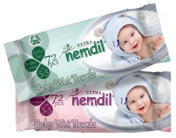 Салфетки влажные Nemdil Baby 72