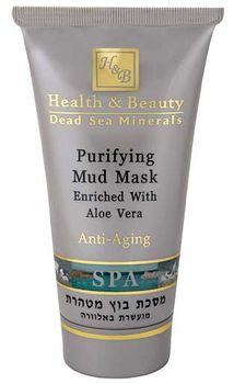 купить Health & Beauty Очищающая грязевая маска с Алоэ Вера 100мл (44.113) в Кишинёве
