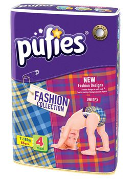 PUFIES подгузники Fashion 4 (7-18 кг) (66 шт.)