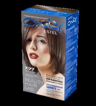 Краска для волос,ESTEL Only, 100 мл., 7/77 - Русый коричневый интенсивный
