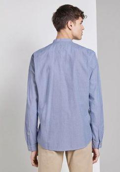Рубашка TOM TAILOR Синий с принтом
