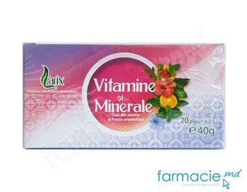 купить Ceai Larix Vitamine si Minerale 40g*20 pliculete в Кишинёве