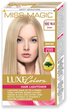 Vopsea p/u păr, SOLVEX Miss Magic Luxe Colors, 108 ml., 100 (10.0) - Blond
