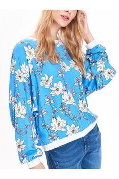 Блуза TOP SECRET Голубой с принтом sbd0954