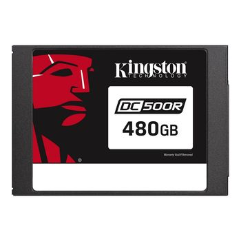 "2.5"" SSD 480GB  Kingston DC500R Data Center Enterprise, SATAIII, Read-centric, 24/7, SED, PLP, Sequential Reads:555 MB/s, Sequential Writes:500 MB/s, Steady-state 4k: Read: 98,000 IOPS / Write: 12,000 IOPS, 7mm, Phison PS3112-S12DC, 3D NAND TLC"