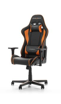 Gaming Chairs DXRacer - Formula GC-F08-NO-H1, Black/Black/Orange - PU leather, Gamer weight up to 100kg / growth 145-180cm, Foam Density 52kg/m3, 5-star Aluminum IC Base, Gas Lift 4 Class, Recline 90*-135*, Armrests: 3D, Pillow-2, Caster-2*PU, W-23kg