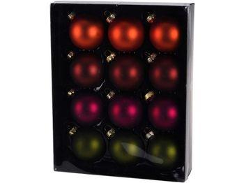 """Набор шаров стеклянных 12X57mm """"Autumn"""", в коробке"""