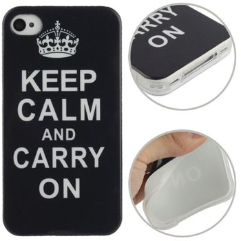 Чехол Keep Calm and Carry on для iPhone 4 / 4S
