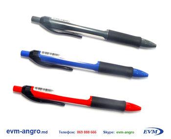 Ручка   AH 512 резинка насыщенный цвет кнопка