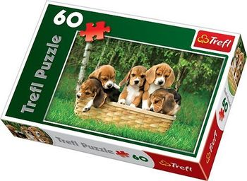 "Пазлы ""60"" - ""Beagle Puppies"", код 40219"