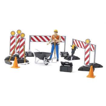 Set de semne de lucrări rutiere cu o figură a lucrătorului, cod 42307