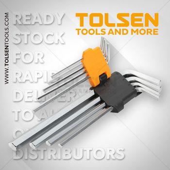 купить Ключи шестигранные 1,5-10mm 9 шт длинные с футляром Tolsen в Кишинёве