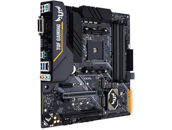 Материнская плата ASUS TUF B450M-PRO GAMING AMD B450, AM4, Dual DDR4 4400MHz, 2xPCI-E 3.0/2.0 x16, HDMI/DVD-D, AMD CrossFireX, USB 3.1, SATA RAID 6Gb/s, M.2 x4 Socket, SB 8-Ch., GigabitLAN, LED lighting, (placa de baza/материнская плата)