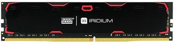 16GB DDR4-2400  GOODRAM Iridium, PC19200, CL17, Latency 17-17-17, 1024x8, 1.2V,  Aluminum BLACK heatsink