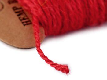 Sfoară iută roșu, Ø2 mm