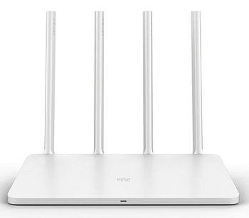 Xiaomi Mi Router 3 White EU,  AC1200 Dual Band Wireless Router, 867Mbps at 5Ghz + 300Mbps at 2.4Ghz, 802.11ac/a/b/g/n, 1 WAN + 2 LAN, 1xUSB port for external drive, Support VPN, DHCP-server, NAT, 4 external antennas