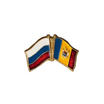купить Значок на магните - Флаг Россия & Молдова в Кишинёве