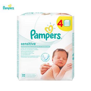 купить Влажные салфетки Pampers Sensitive блок (56x4) в Кишинёве