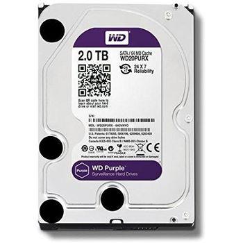 """2TB HDD 3.5"""" Western Digital WD20PURX, SATAIII, 64Mb"""