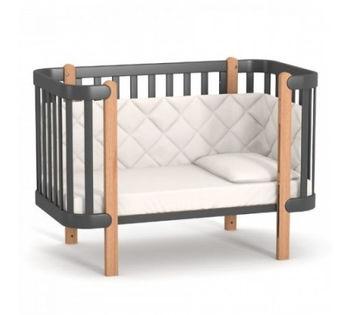 купить Кроватка детская Верес ЛД5 Монако (темно-серая) в Кишинёве