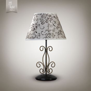 N&B Light Настольная лампа Грация new 10300-1 черный/золотой лак