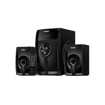 Колонки Active Speakers SVEN MS-307 Black, Bluetooth, FM Tuner, USB port, SD slot ( 2.1 surround, RMS 40W, 20W subwoofer,  2x10W Satellites ) (boxe sistem acustic/колонки акустическая сиситема)