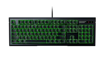 RAZER Ornata / Mecha-Membrane Gaming Keyboard, Razer™ Mecha-Membrane Technology, Mid-height keycaps, Individually backlit keys with Dynamic lighting effects, Fully programmable keys with on-the-fly macro, Ergonomic wrist rest, USB