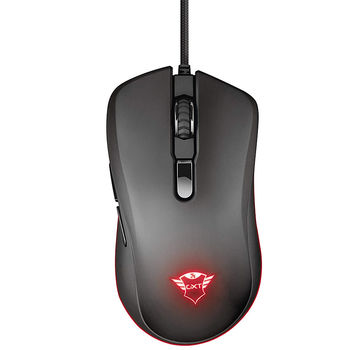 Мышь игровая Trust Gaming GXT 930 Jacx RGB Mouse, 200 - 6400 dpi, 6 Programmable, responsive buttons including 2 thumb buttons, Fully adjustable RGB lighting with multiple effects, Braided cable 1,8 m USB, Black