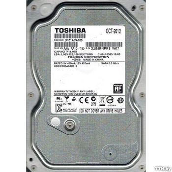 """1.0TB HDD 3.5"""" Toshiba Deskstar 7K1000.D 7200rpm, 32Mb, SATA3 (HDS721010DLE630)"""