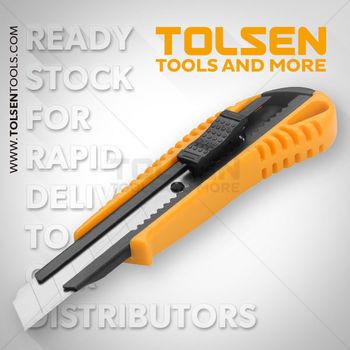 купить Нож с отламывающимся лезвием 18мм  пластик  усиленный Tolsen в Кишинёве