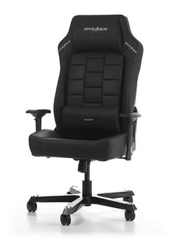 Office Chairs DXRacer - Boss GC-B120-N-F2, Black/Black/Black - PU & PVC leather, Gamer weight up to 200kg/growth 185-200cm,Foam Density 54kg/m3, 5-star Wide Alum x2 Base,Gas Lift 4 Class,Recline 90*-120*,Armrests:4D,Pillow-2,Caster-3*PU,W-35,50kg
