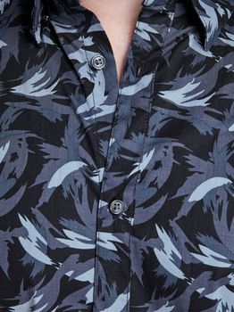 Рубашка JACK&JONES Темно синий с принтом 12145273