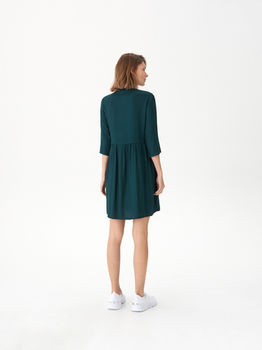 Платье HOUSE Темно зеленый vu974