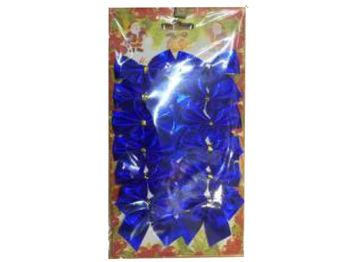 Набор бантиков 12шт, 5cm синих