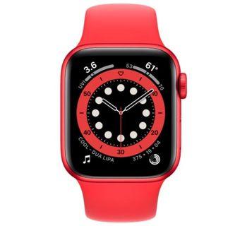 купить Apple Watch Series 6 40mm Red Aluminum Case with Red Sport Band, M00A3 в Кишинёве