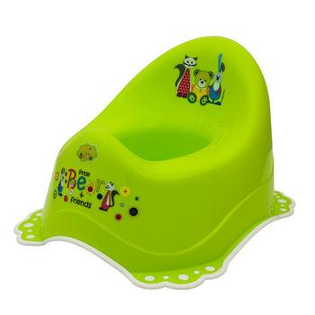 """Горшок """"Bear&Friends"""" c нескользящими резинками, зелено/белый, код 41030"""