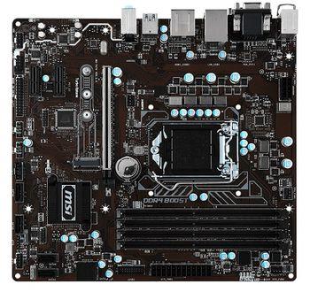 MSI B250M PRO-VDH, Socket 1151, Intel® B250, Dual 4xDDR4-2400, 1xPCIe X16, CPU Intel graphics, DVI, HDMI, 6xSATA3, 1xM.2 slot, 2xPCIe X1, ALC887 7.1ch HDA, GigabitLAN, 6xUSB3.1, Military Class 5, mATX