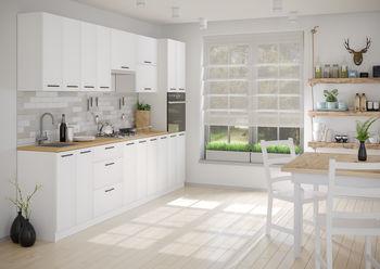 Кухня 3000 МДФ Белый Матовый