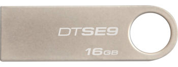 Kingston DataTraveler SE9 16GB Metal casing, Compact and lightweight, (Read 18 MByte/s, Write 10 MByte/s)