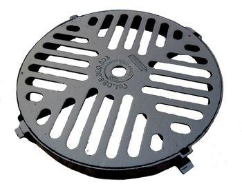 купить Решетка c рамой чугунная канализационная dn520мм (круглая) B125  (450x520x20) в Кишинёве