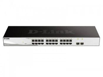 24-port 10/100/1000BASE-T, D-Link DGS-1210-26/F1B, 2 SFP