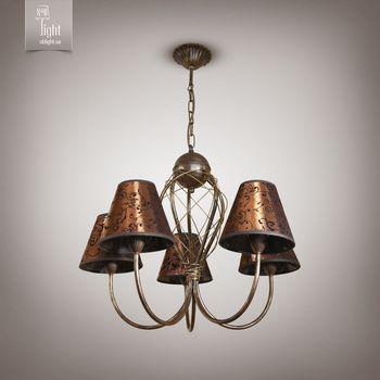 купить N&B Light Люстра Сидней 12805-1 коричневый/золото в Кишинёве