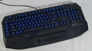 cumpără ROCCAT Ryos MK Glow / Illuminated Mechanical Gaming Keyboard, Mechanical keys (Cherry® MX Blue key switch),  Advanced anti-ghosting, Powerful 100+ LED illumination (6-level brightness), ARM CPU+memory, 500 programmable macros, EASY-SHIFT[+]™, USB în Chișinău