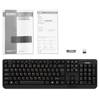 Беспроводная клавиатура SVEN KB-C2200W, Black