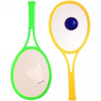 Набор для пляжного тенниса (2 ракетки, воланчик + мячик) 20х45 см, 357A (3547)