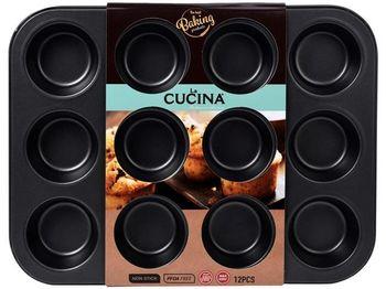 Форма для выпечки на 12 кексов 35Х26.5Х3.5cm, антипригарная
