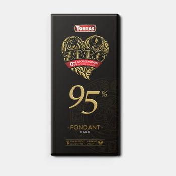 Ciocolata amara 95% f/a zahar, f/a gluten Torras 100g